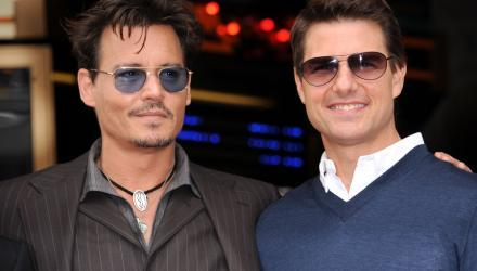 Prominente Männer mit Sonnenbrillen